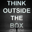 Man looking at think outside the box — Stock Photo #29316585