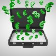 Briefcase with money — Stock Photo #29316821