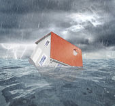 Sinking house — Stock Photo