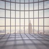 Office with big window — Stockfoto
