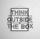 Kutunun dışında düşünmek — Stok fotoğraf