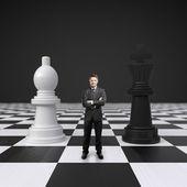 在棋枰上的男人 — 图库照片