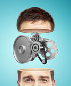 Half head and gears — Stock Photo