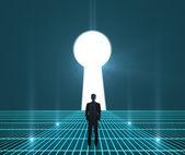 Interface world keyhole — Stock Photo