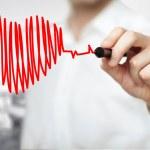 Drawing chart heartbeat — Stock Photo #31061795