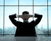 Rilassato, uomo d'affari — Foto Stock