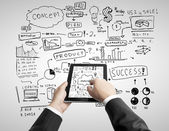 Tablet and concept — Stock Photo