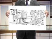 Business concept and house — Stock Photo