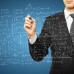 Man drawing mathematical formulas — Stock Photo #32317993