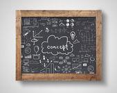 Tablica z koncepcja biznesowa — Zdjęcie stockowe