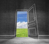 Open door in sky — Stock Photo