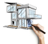 Hand drawing cottage — Stock Photo