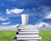 Book and cup of coffee — Foto Stock