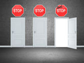 Exit doors — Stock Photo