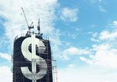 Building big dollar — Stock Photo