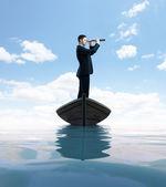 Podnikatel s dalekohledem — Stock fotografie