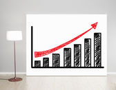 Poster with graph — Stockfoto