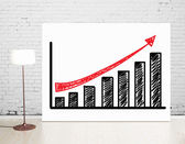 Poster with chart — Stock Photo