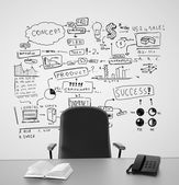 Drawing business concept — Stock Photo