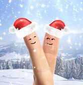 Happy fingers — Stock Photo