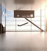 Futuristic airport — Stock Photo