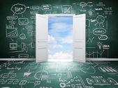 дверь в небо — Стоковое фото