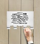 Hand zerrissenes papier — Stockfoto