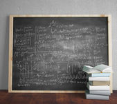 Blackboard with drawing formulas — Stock Photo