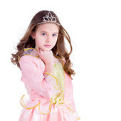 Young girl dressed as a princess — Stock Photo