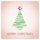 グリーティング カード クリスマス ツリーを — ストック写真