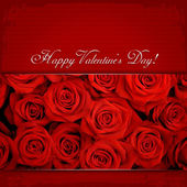 Happy Valentine's Day & Red roses — Stock Photo