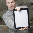 man met tablet pc — Stockfoto #20061781