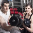 Royalty-Free Stock Photo: Couple in the gym