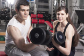 Couple in the gym — Stock Photo