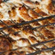 bbq chicken on grill — Stock Photo