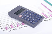 Financial data analyzing — Stock Photo