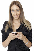 Smart phone communication - Stock Image — Stockfoto