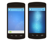Telefono mobile e cloud — Foto Stock