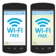 Wi fi is free — Stock Photo