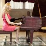 Woman Playing Piano — Stock Photo #43028431