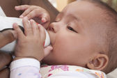 Bottle feeding — Stock Photo