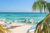 Beach of island Grand Roque — Stock Photo