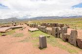 Panorama of megalithic stone complex Puma Punku — Stock Photo
