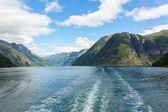 Norwegian fjord and mountains — Stock Photo