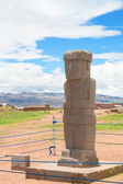 Monolith at ruins of Tiwanaku, Bolivia — Stock Photo