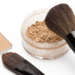 Loose powder and compact powder — Stock Photo