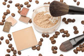 Cosmetics beige shades — Stock Photo