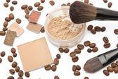 Cosmetics beige shades — Stock Photo