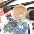 Workplace of makeup artist - Stock Photo