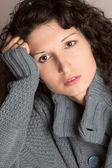 Pensive beautiful woman — Stock Photo